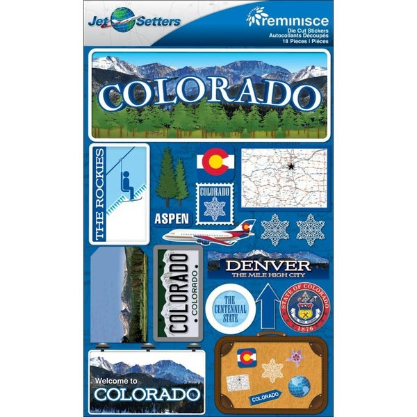 Jet Setters Colorado Stickers