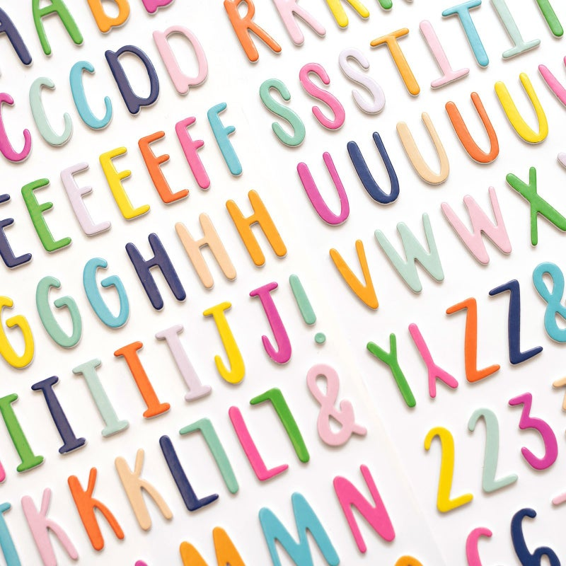 Go the Scenic Route Alphabet Thickers