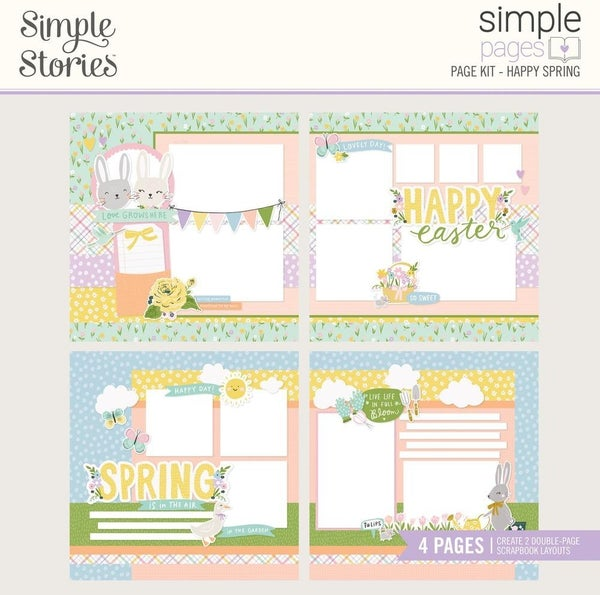 Happy Spring Page Kit Pack Simple Pages