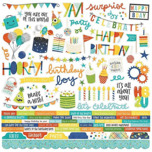 Birthday Blast 12x12 Sticker Sheet