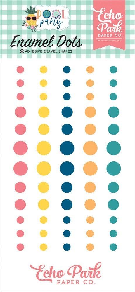 Pool Party Enamel Dots