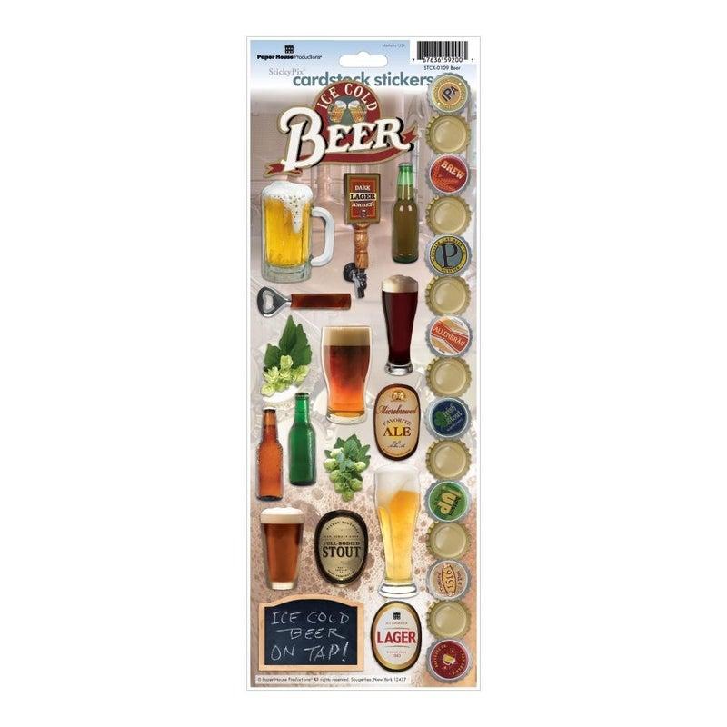 Beer Cardstock Stickers