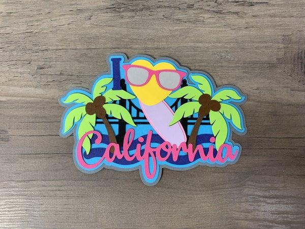 California Die Cut Size 4 3/4 x 3 1/4