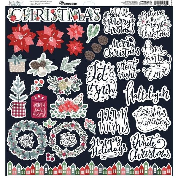 Christmas Spruce 12x12 Sticker Sheet