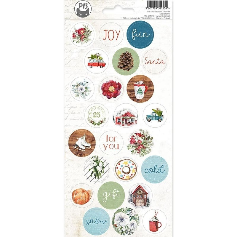 4 Seasons Winter Photo Stickers