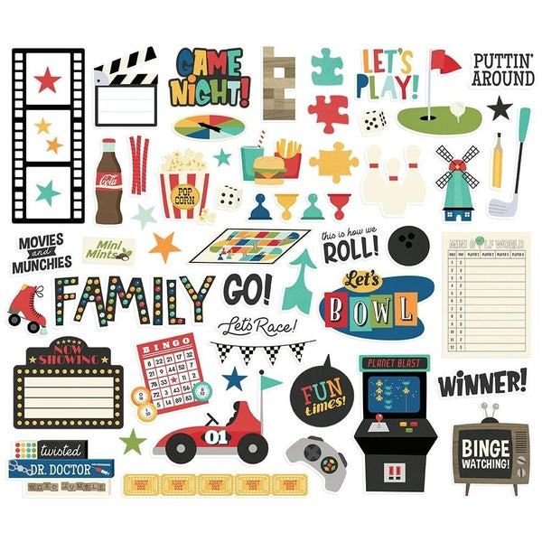 Family Fun Bits & Pieces Die Cuts