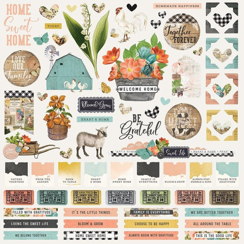 Simple Stories Farmhouse Garden Paper Pack