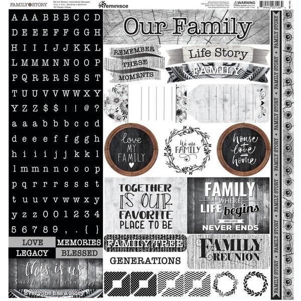 Family Story 12x12 Sticker Sheet