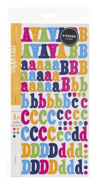 Multicolor Iguana Alphabet Sticker Book