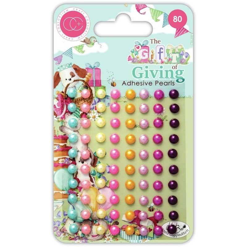 Gift of Giving Pearl Adhesive Dots