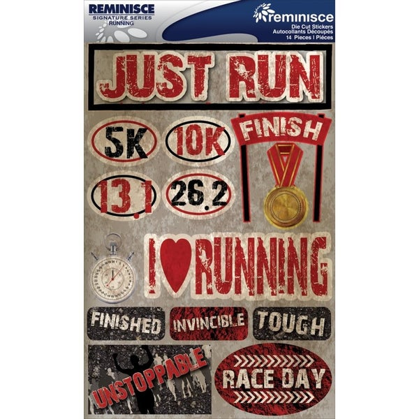 Running Track Cross Country 3D Stickers