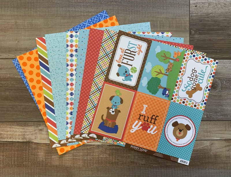 Puppy Love Paper Pack - 9 Sheets