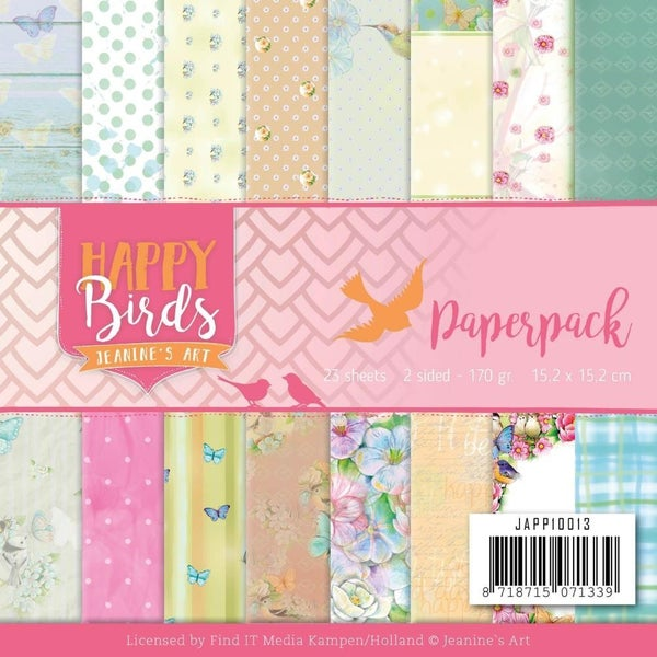 Happy Birds 6x6 Paper Pad