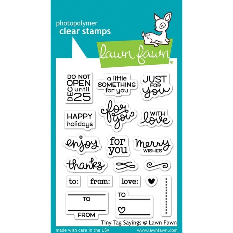 Lawn Fawn Clear Stamp - Tiny Saying