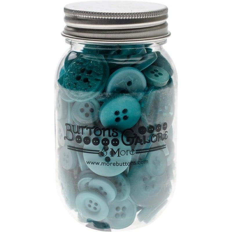 Buttons Mason Jar - Open Seas