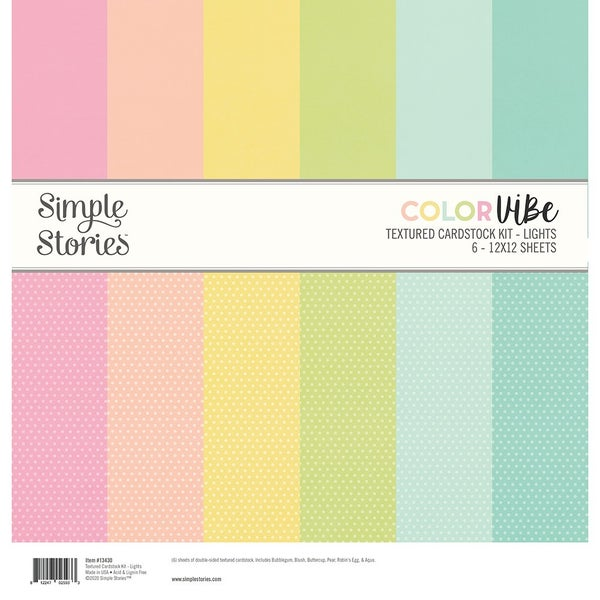 Lights Textured Cardstock Paper Pack