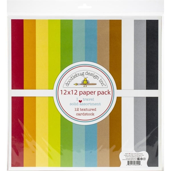 I Heart Travel Solid Assortment Paper Pack