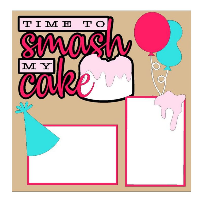 Time to Smash My Cake Girl kit
