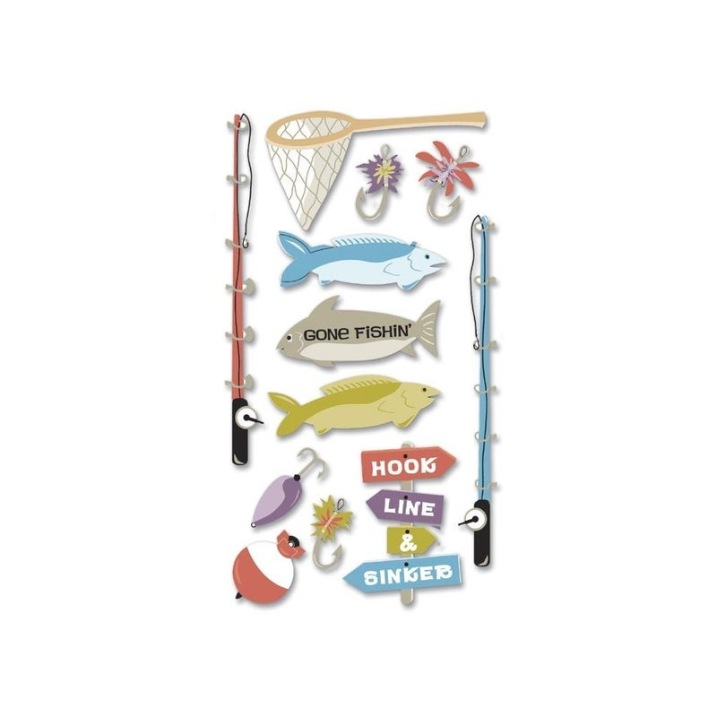 Fishing Dimensional Stickers