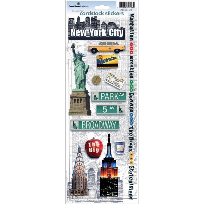 New York City Cardstock Stickers