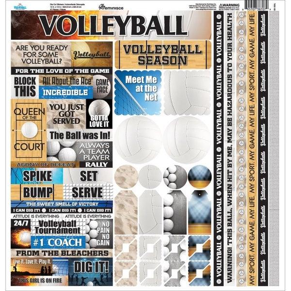 Volleyball 12x12 Sticker Sheet