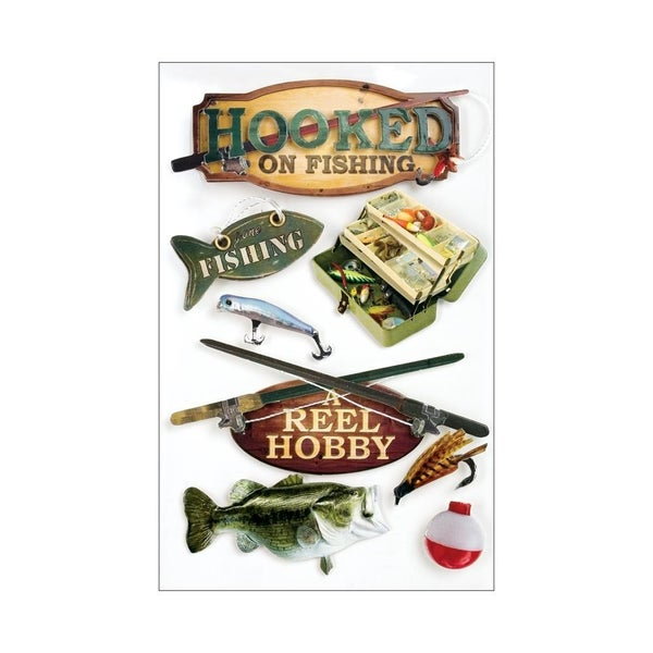 Hooked on Fishing 3D Stickers