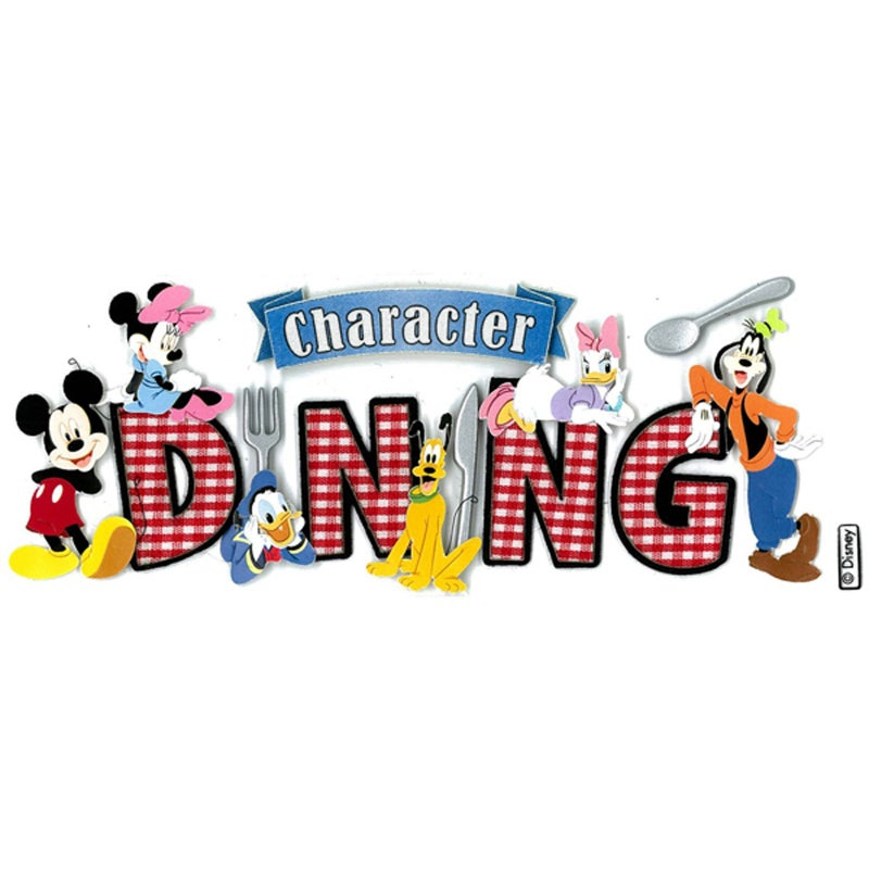 Disney Character Dining Sticker