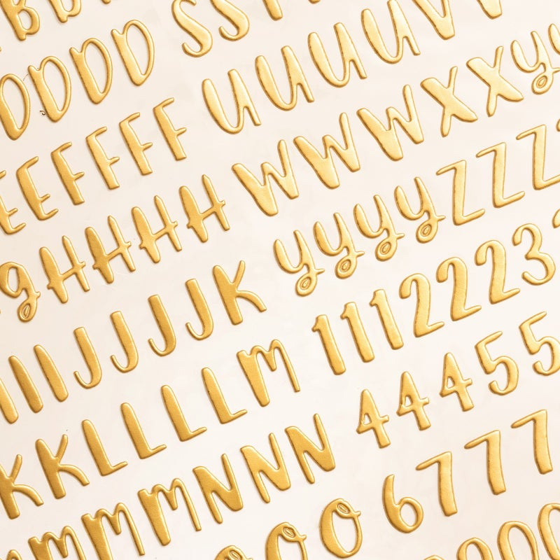 Cheers To You Gold Alphabet Thickers