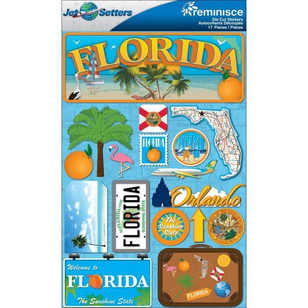 Jet Setters Florida Stickers