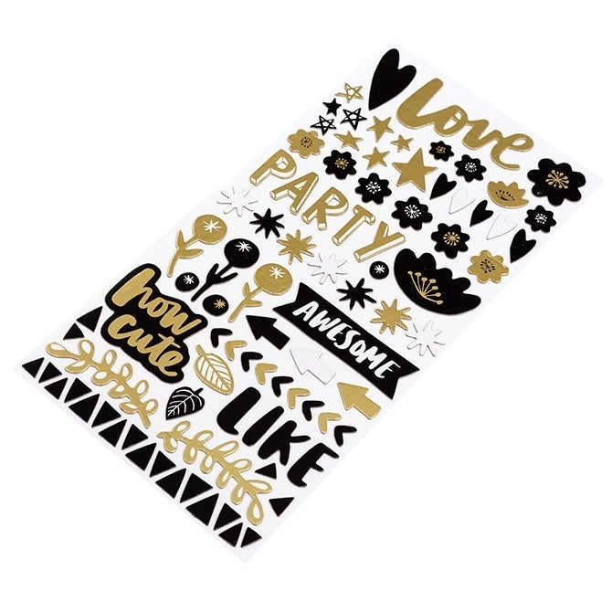 Miscellaneous Black & Gold Phrase Thickers