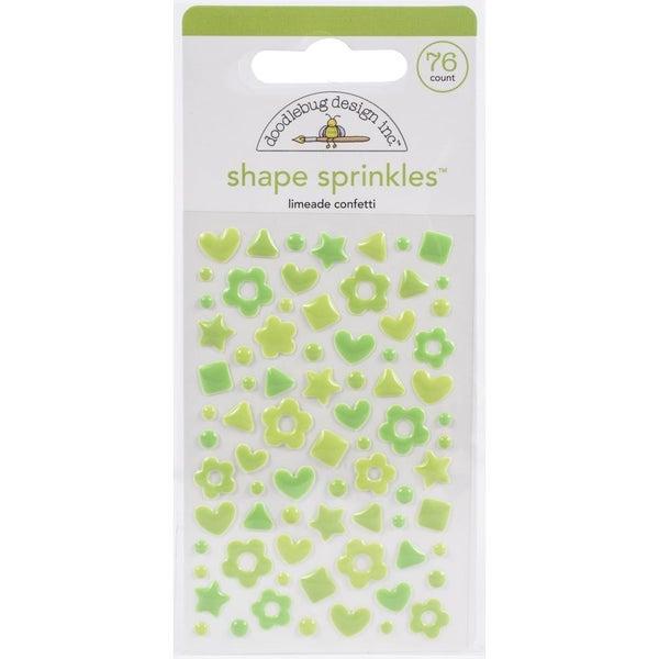 Sprinkles Confetti Shapes - Limeade