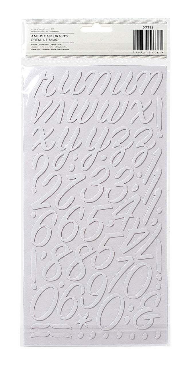 Rainboots White Alphabet Thickers