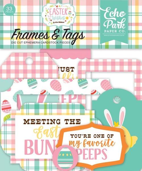 Easter Wishes Frames & Tags Ephemera