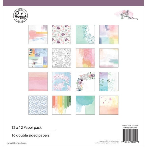 "Pinkfresh Studio Double-Sided Paper Pack 12""X12"" Just Lovely"