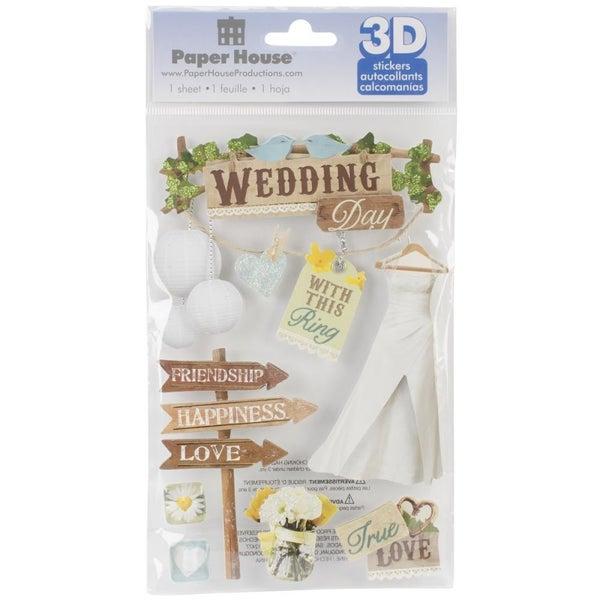 3D Wedding Stickers