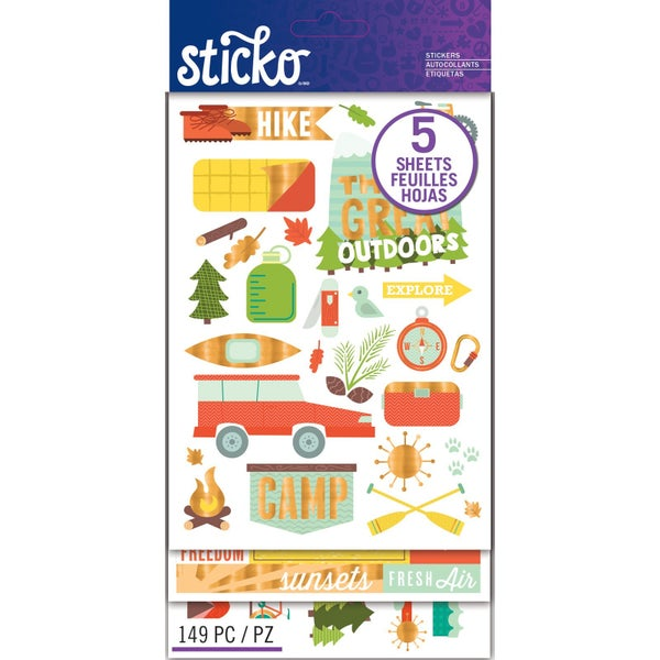 Outdoor Vacation Sticker Pack
