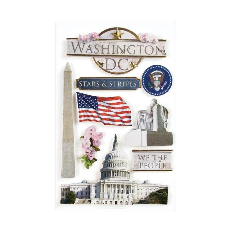 Washington DC 3D Stickers