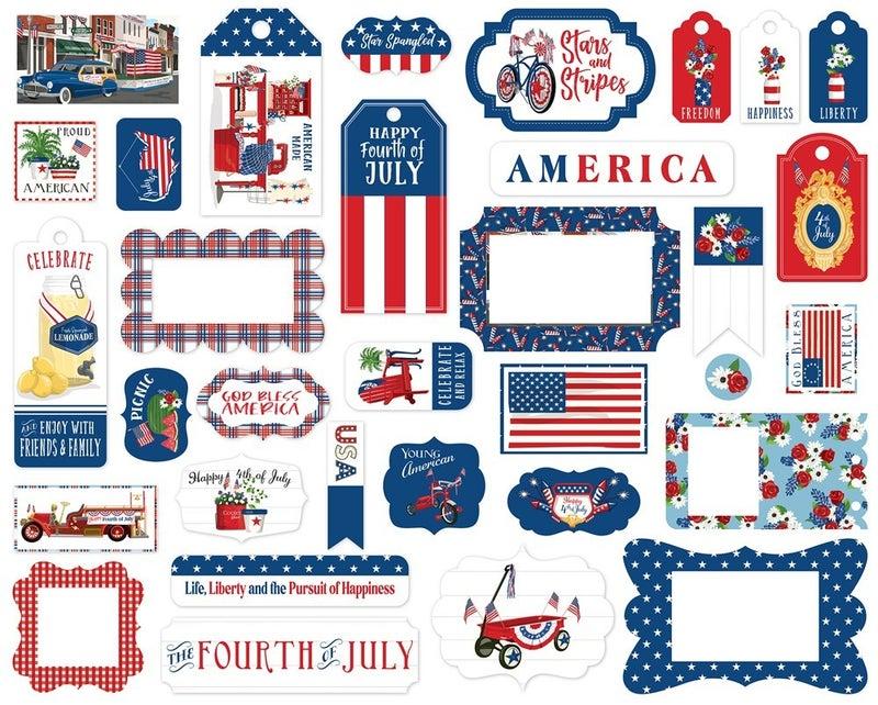 God Bless America Frames & Tags