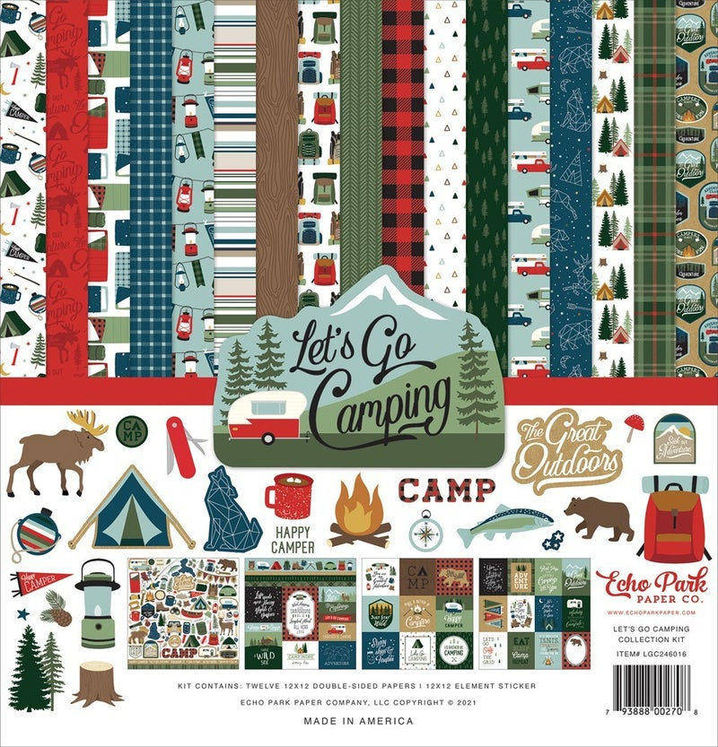 Let's Go Camping Paper Pack