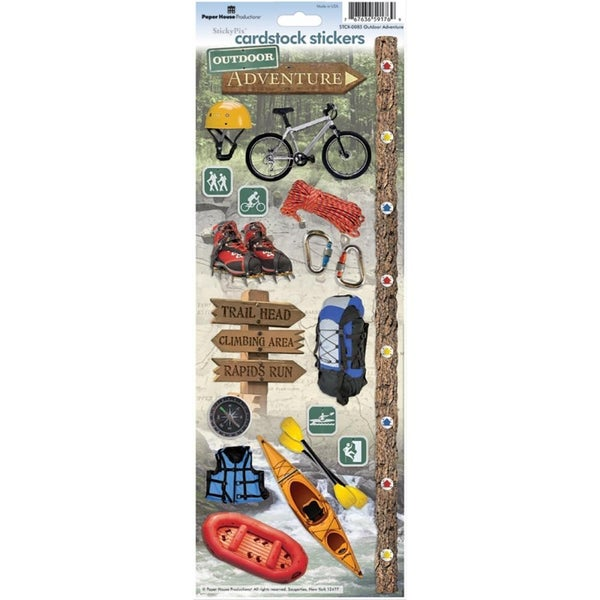 Outdoor Adventures Cardstock Stickers