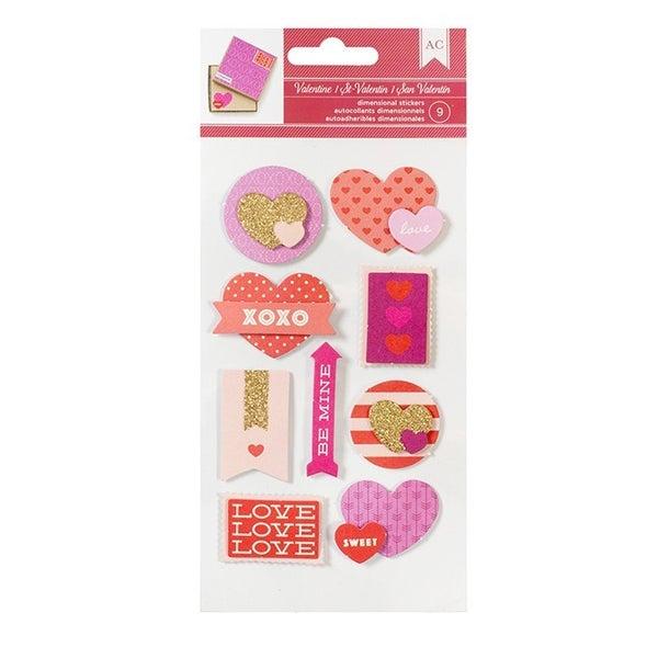 Valentine Dimensional Stickers