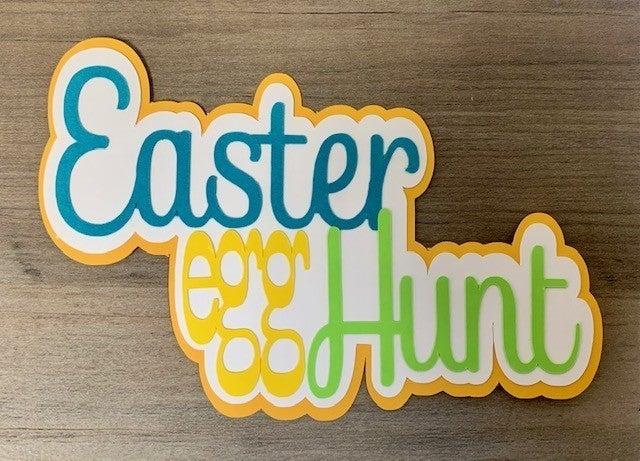 Easter Egg Hunt Die Cut Size 5 x 3 1/2
