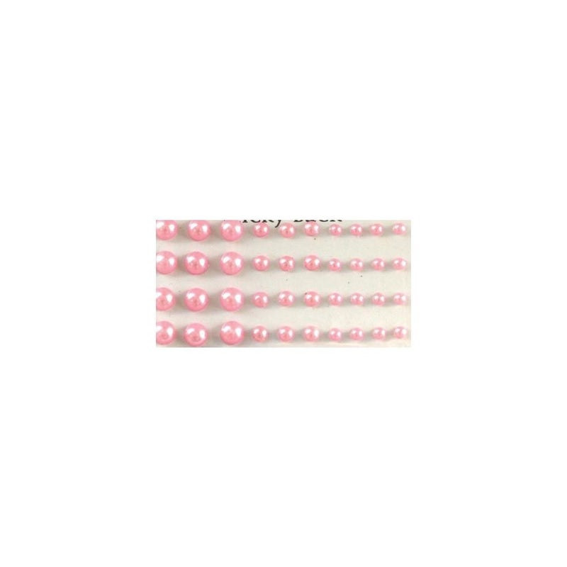 Adhesive Pearls Multi-Size - Pink
