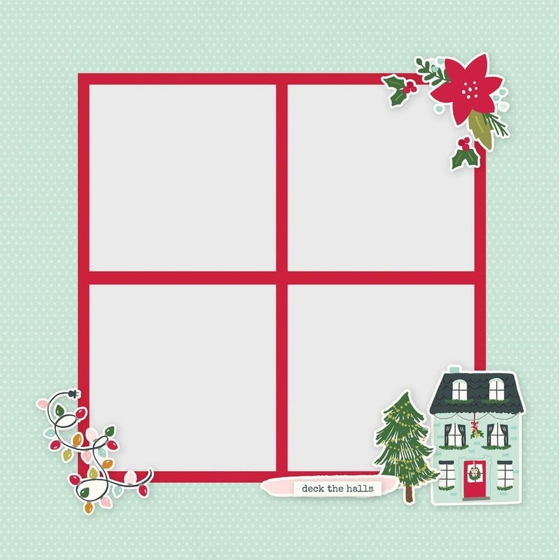 Holly Jolly Page Pieces - Holly Days Christmas Collection