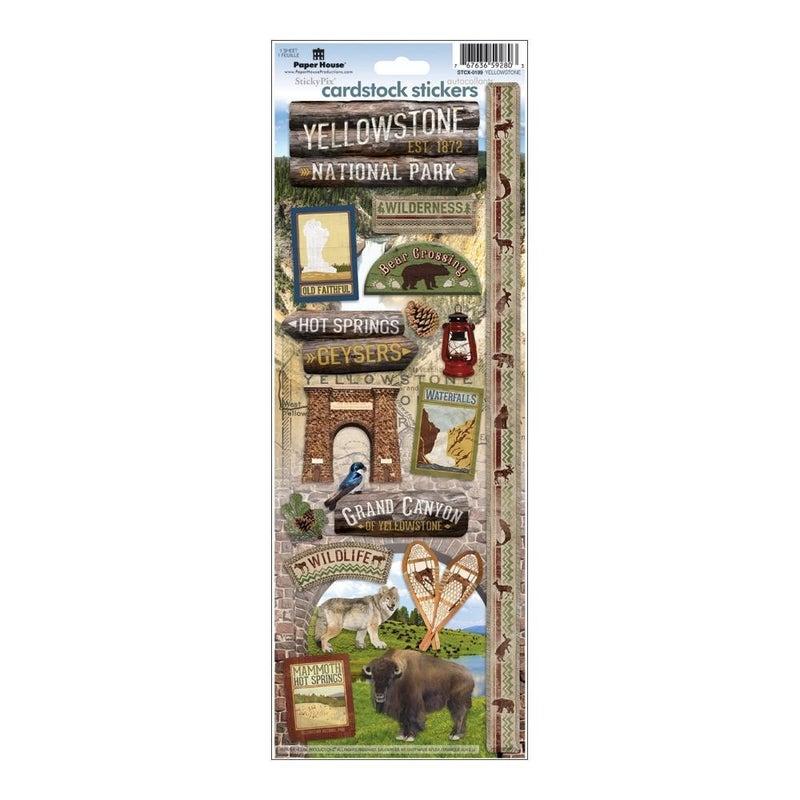 Yellowstone Cardstock Stickers