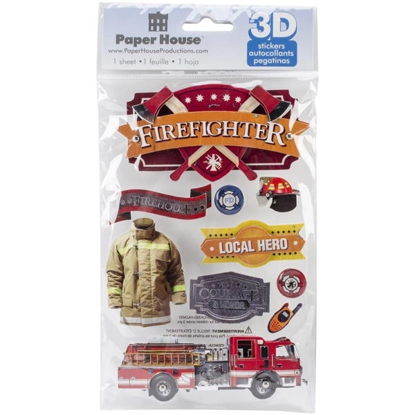 Firefighter 3D Stickers