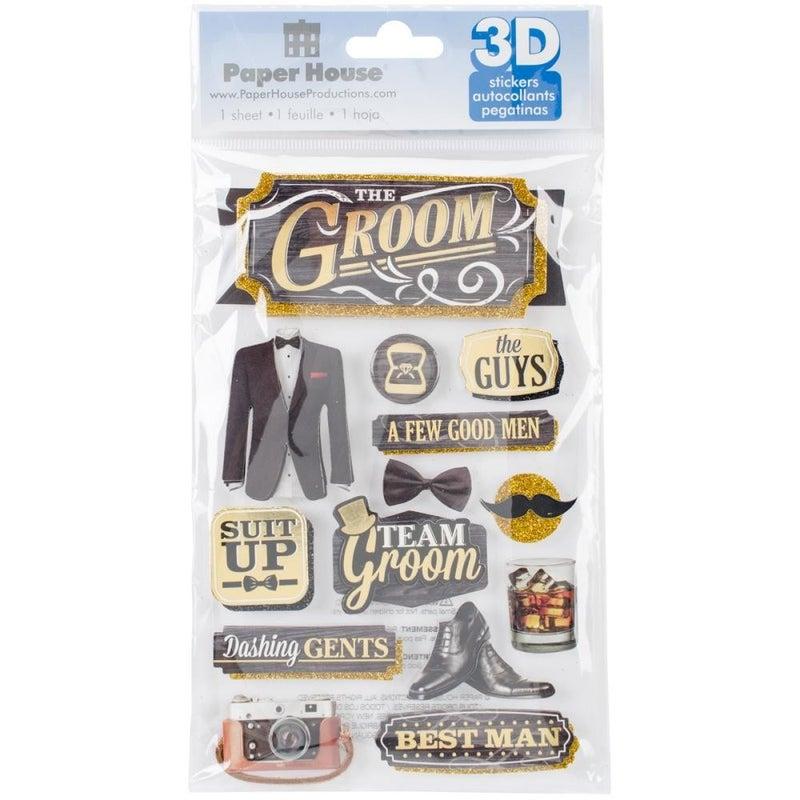 3D Wedding Groom Stickers