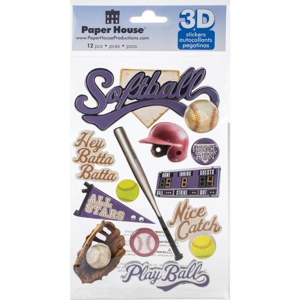 Softball 3D Stickers