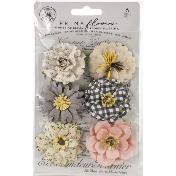 Prima Mulberry Paper Flowers -6 pcs