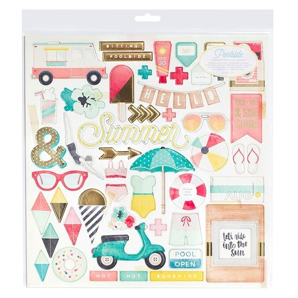 Poolside Summer Chipboard 12x12